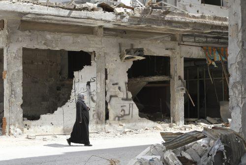 La population civile des villes assiégées n'a pas le choix: attendre l'aide internationale au milieu des ruines. Getty Images/ bwb-Studio